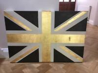 Union Jack painted canvas print