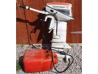 Johnson 15 HP Short Shaft Outboard Motor (2 Stroke) with Fuel Tank & Fuel Line