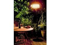 Firefly 2kW Freestanding Patio Heater Electric Quartz Bulb Outdoor Garden 15sqm