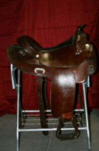 "USED SIMCO DRAFT BARS 17"" WESTERN SADDLE"