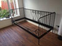 Single ikea metal frame bed