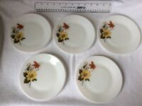 15 Pieces of Vintage Retro Pyrex Autumn Glory Plates tea, dessert/ salad plates, dinner plates
