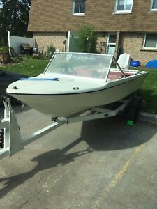 14 foot boat, motor and trailer