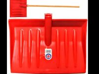 Job Lot 100 Red Plastic Wooden Handle Leaf Snow Rubbish Mucking Out Shovel