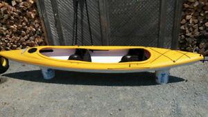 14 ft. Kayak, Double, by Pellican. Incl. 2 paddles & car carrier