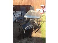 Garden table x4 chairs