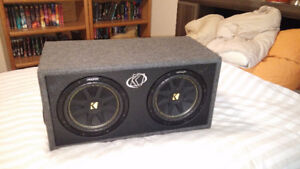 Kicker Dual 12 inch Enclosed Subwoofer