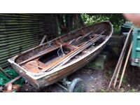 Historic timber 12 ' dinghy built by Walker & Co