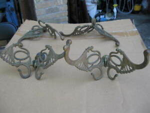 ANTIQUE  HALL STAND  COAT HOOKS