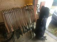 Golf clubs with trolley for sale..good price..