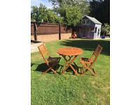 NEW Garden Wooden Table & Chairs Set