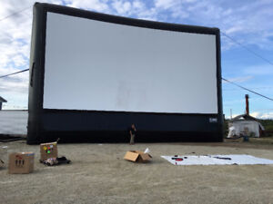 Professional mobile movie screen and Concession