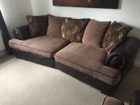 Large 4 seater sofa chair and footstool