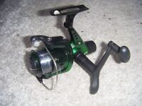 Small fishing reel & several packs of barbed hooks size 12.