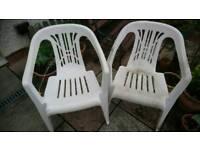 5x plastic garden chair