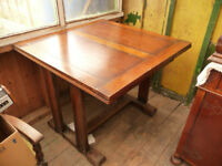Vintage Draw Leaf Table & 3 Chairs