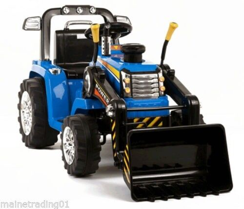 12 volt large electric ride on tractor (new)