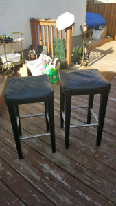Leather bars stools 2