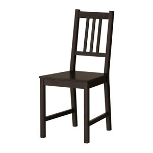 Ikea Black Dining Chairs 4 w 2 cushions sq + rect wood table