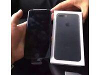 APPLE IPHONE 7 128GB, MATTE BLACK,UNLOCKED TO ORANGE TMOBILE EE VIRGIN,BOXED AS NEW