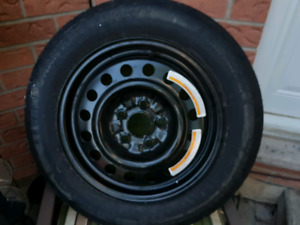 Spare trailer wheel