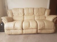 Three and Two seater leather Sofas
