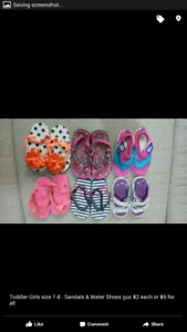 ** REDUCED 7T Shoes, Sandals, etc. - $10 for All obo