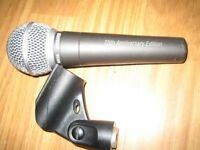 shure SM58 75TH ANNIVERSARY MODEL with clip