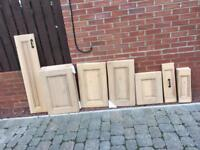 Kitchen doors solid oak £10 each or £100 the lot
