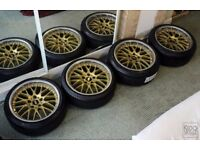 REDUCED! BMW Genuine BBS RS 744/745 staggered + new tires 5x120 wheels alloys
