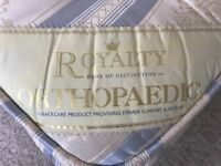 Double orthopaedic mattress with divan base (if wanted)