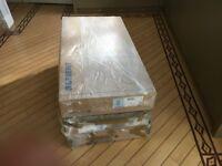 2 unused Geberit Omega w/mounted concealed 98cm cistern & Geberit Omega 30 flush plate