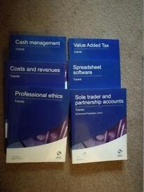 Osborne Level 3 accounting books - 6 in total