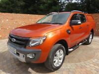 FORD RANGER WILDTRACK 4 X 4 TDCI DOUBLECAB 200 BHP AIR CON BLUETOOTH 5 SEATS