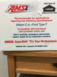 Amsoil synthetic transmission fluid for c4