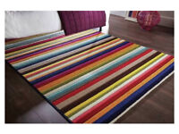 Spectrum tango flair Rug. Multi Coloured stripped design. 160 by 230 cm *new*