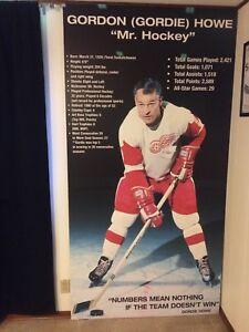 Giant hockey hall of fame Gordie Howe Display