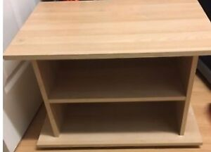 light wood coloured tv stand, shelf or side table