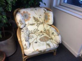 Four wicker arm chairs ideal for conservatory