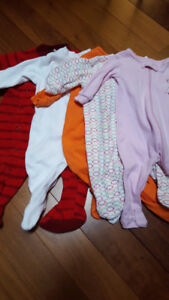 Lot of 5 Sleepers size 3 - 6 Months