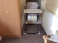 High chair and chair booster seat