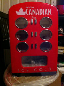 Rare! Molson Canadian 12 Can Dispensing Mini Beer Fridge!