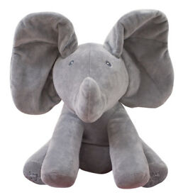 Flappy The Peek a Boo Baby Grey Elephant Singing Animated Plush Toy Watch Video!