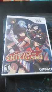 Rare wii game Castle of shikigami 3
