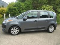 beautiful 2009 citroen c3 picasso 1.6 hdi vtr+.full mot 6 months warranty.one lady owner