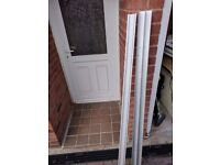 2 off Black tinted mirror sliding wardrobe doors with top and bottom rail