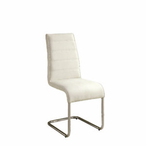 2 brand new modern white dinning chairs (never used)