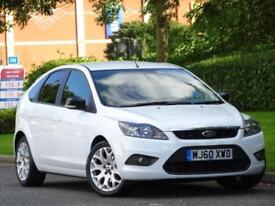 WHITE 2011 Ford Focus 1.6 PETROL Zetec..6 MONTHS COMPREHENSIVE WARRANTY
