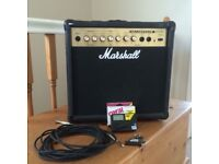 Marshall 15w practice amp with accessories!