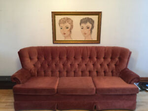 Large vintage sofa couch